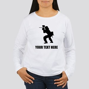 Paintball Player Silhouette Long Sleeve T-Shirt