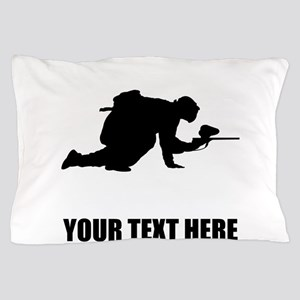 Paintball Player Silhouette Pillow Case