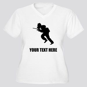 Paintball Player Silhouette Plus Size T-Shirt