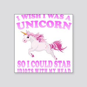 I Wish I Was A Unicorn Sticker