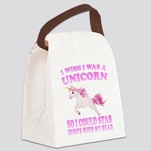 I Wish I Was A Unicorn Canvas Lunch Bag