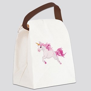 Pink Unicorn Canvas Lunch Bag