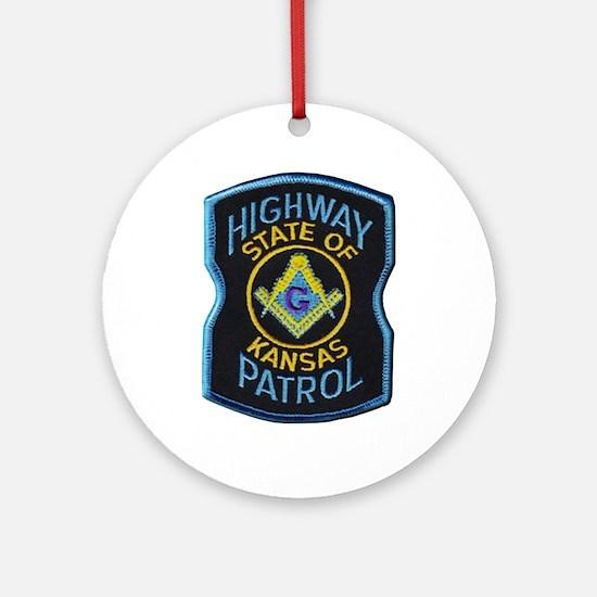 Kansas Highway Patrol Mason Round Ornament