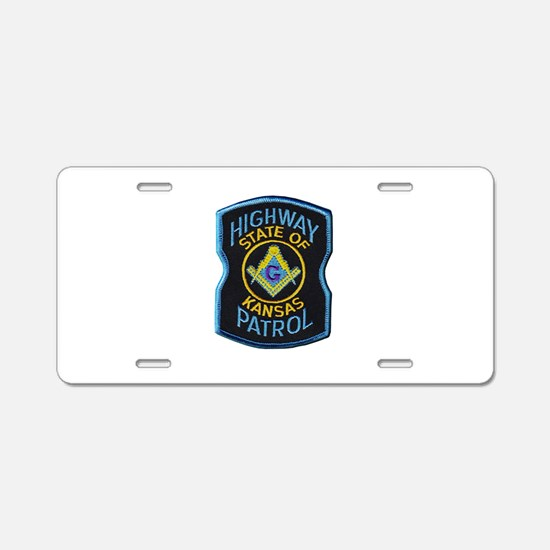 Kansas Highway Patrol Mason Aluminum License Plate