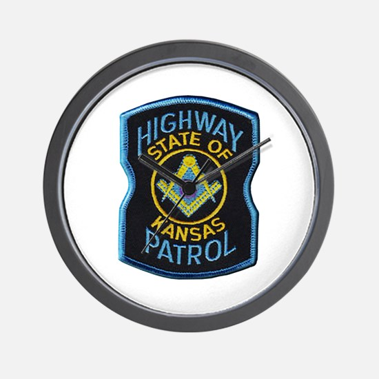 Kansas Highway Patrol Mason Wall Clock