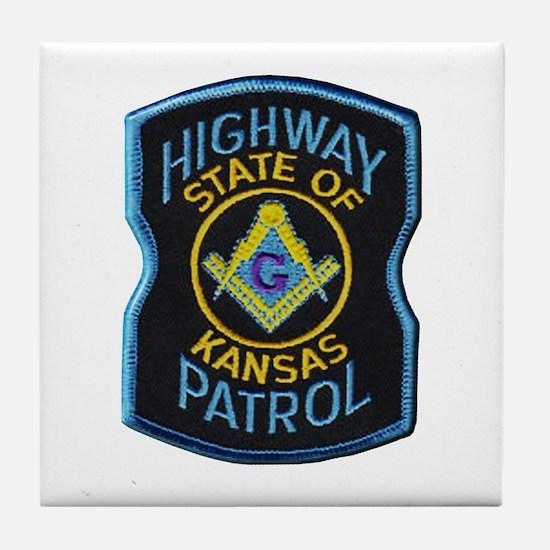 Kansas Highway Patrol Mason Tile Coaster
