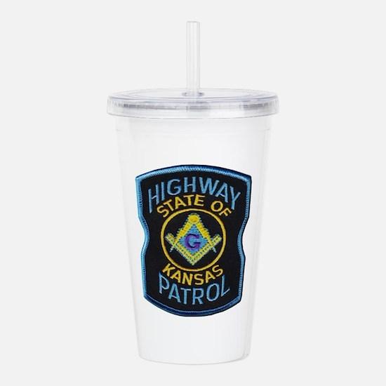 Kansas Highway Patrol Mason Acrylic Double-wall Tu
