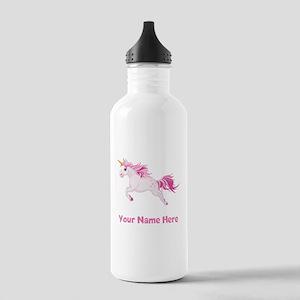Pink Unicorn Water Bottle
