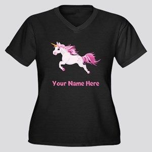 Pink Unicorn Plus Size T-Shirt