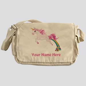 Unicorn Pooping Messenger Bag