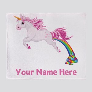 Unicorn Pooping Throw Blanket