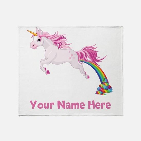 Unicorn Pooping Throw Blanket