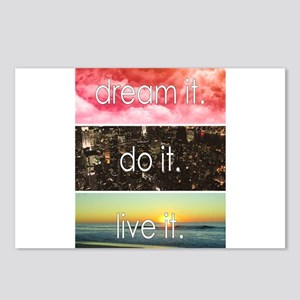 Dream It Do It Live It Postcards (Package of 8)