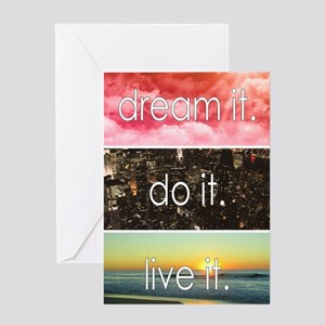 Beach quotes greeting cards cafepress dream it do it live it greeting cards m4hsunfo