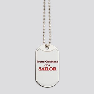 Proud Girlfriend of a Sailor Dog Tags