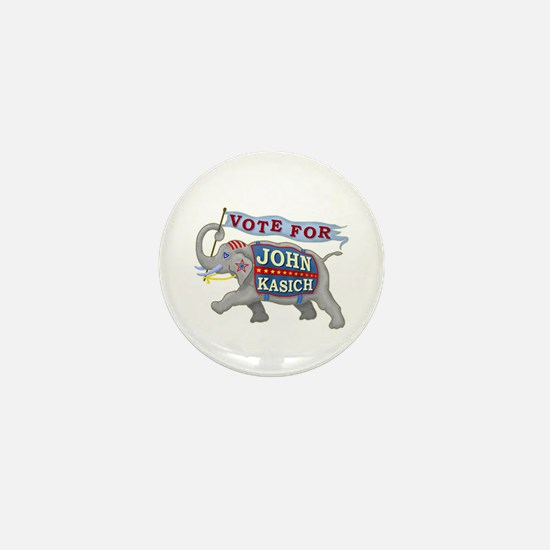 John Kasich 2016 Elephant Election Mini Button