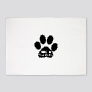 Hug A Field Spaniel Dog 5'x7'Area Rug