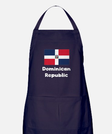 Dominican Flag Apron (dark)