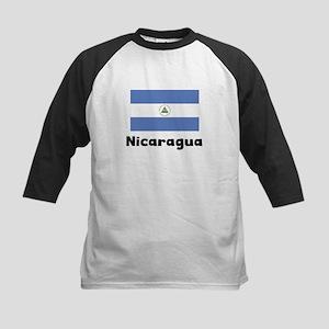 Nicaraguan Flag Baseball Jersey