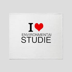 I Love Environmental Studies Throw Blanket
