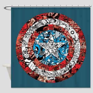 Shield Collage Shower Curtain