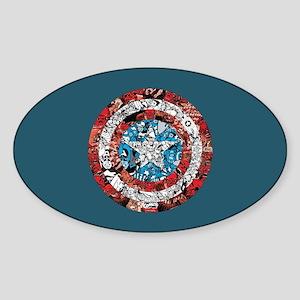 Shield Collage Sticker (Oval)