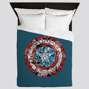 Shield Collage Queen Duvet