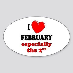 February 2nd Oval Sticker