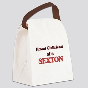 Proud Girlfriend of a Sexton Canvas Lunch Bag