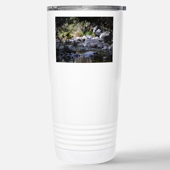 woodland stream Stainless Steel Travel Mug