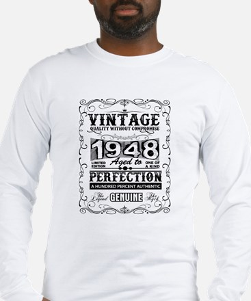 Vintage 1948 aged to perfectio Long Sleeve T-Shirt