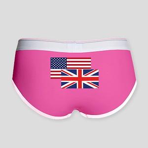 American And British Flag Women's Boy Brief
