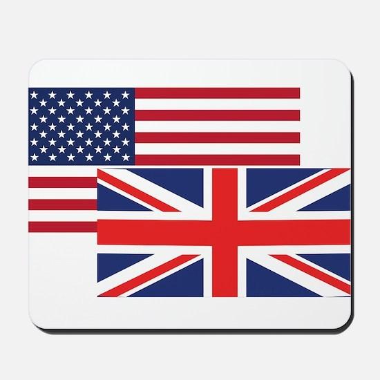 American And British Flag Mousepad