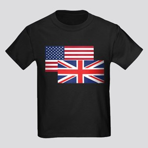American And British Flag T-Shirt