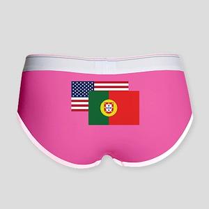 American And Portuguese Flag Women's Boy Brief