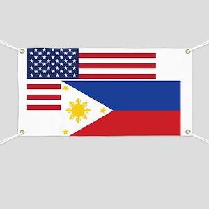 American And Filipino Flag Banner