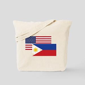 American And Filipino Flag Tote Bag