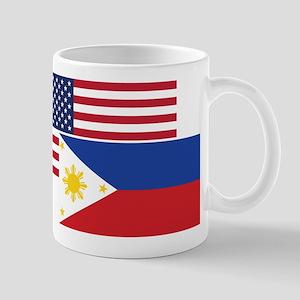 American And Filipino Flag Mugs