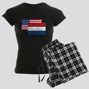 American And Dutch Flag Pajamas