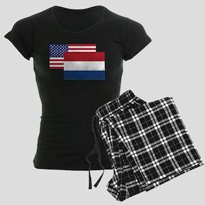 American And Dutch Flag Pajamas