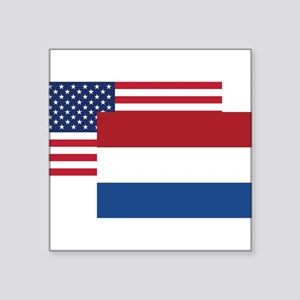 American And Dutch Flag Sticker