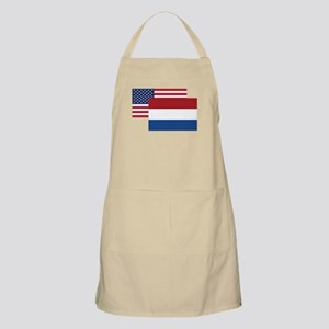 American And Dutch Flag Apron
