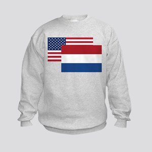 American And Dutch Flag Sweatshirt