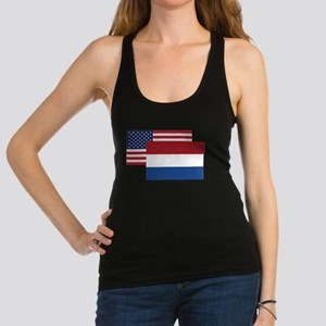 American And Dutch Flag Racerback Tank Top