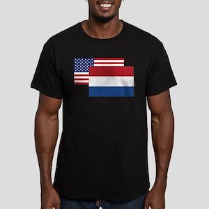 American And Dutch Flag T-Shirt