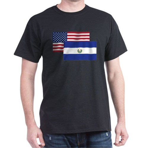 American And El Salvadorian Flag T-Shirt
