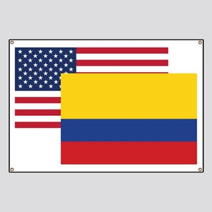 American And Colombian Flag Banner