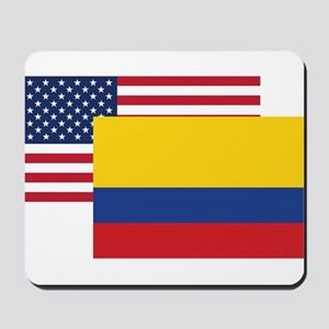 American And Colombian Flag Mousepad