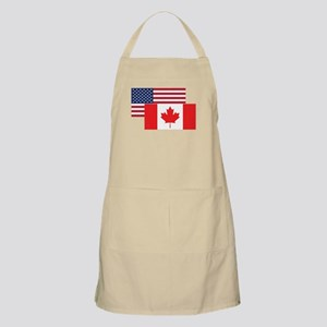 American And Canadian Flag Apron