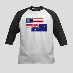 American And Australian Flag Baseball Jersey